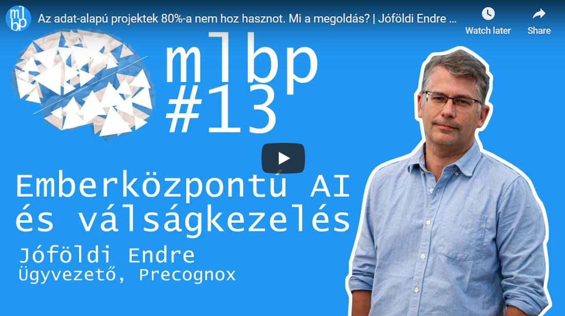 Machine Learnig Budapest Precognox interjú
